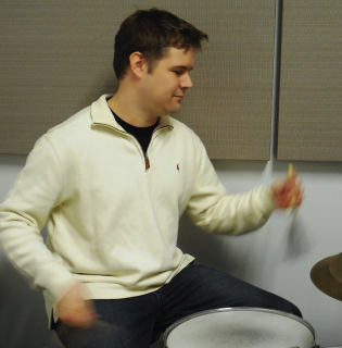 Charles Pike teaches Percussion in its many and various forms.